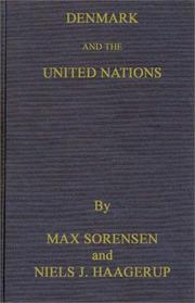 Cover of: Denmark and the United Nations