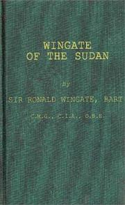 Cover of: Wingate of the Sudan | Wingate, Ronald Sir, bart.