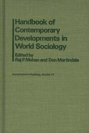 Cover of: Handbook of contemporary developments in world sociology |