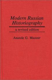 Cover of: Modern Russian historiography