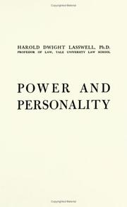 Power and personality by Harold Dwight Lasswell