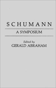 Cover of: Schumann: a symposium