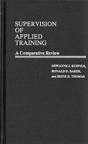 Cover of: Supervision of applied training