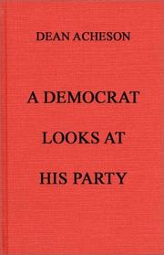 Cover of: A Democrat looks at his party