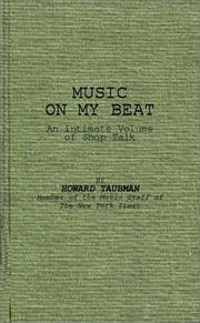 Cover of: Music on my beat