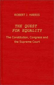 Cover of: The quest for equality