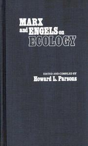 Cover of: Marx and Engels on ecology