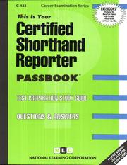 Cover of: Certified Shorthand Reporter (Career Examination, C-133) | Jack Rudman