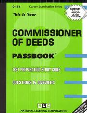 Cover of: Commissioner of Deeds (Career Examination Ser C-157) | Jack Rudman