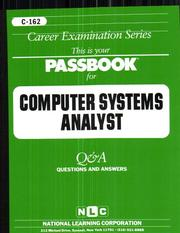 Cover of: Computer Systems Analyst | Jack Rudman