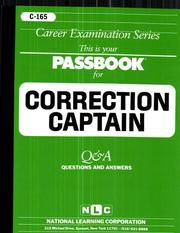 Cover of: Correction Captain (C-165) |