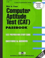 Cover of: Computer Aptitude Test (CAT) (Career Examination, No C-180 |