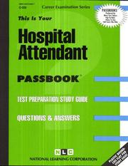 Cover of: Hospital Attendant | Jack Rudman
