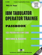 Cover of: IBM Tabulator Operator Trainee | National Learning Corporation