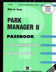 Cover of: Park Manager Two | Jack Rudman