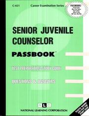 Cover of: Senior Juvenile Counselor | National Learning Corporation