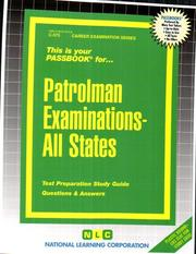 Cover of: Patrolman Examinations, All States | Jack Rudman