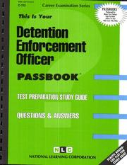 Cover of: Detention Enforcement Officer | National Learning Corporation