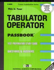 Cover of: Tabulator Operator | Jack Rudman