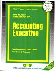 Cover of: Accounting Executive | Jack Rudman