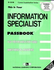 Cover of: Information Specialist (Career Examination Series, No C-1316) | Jack Rudman