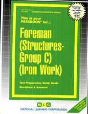 Cover of: Foreman (Structures-Group C) (Iron Work) | National Learning Corporation