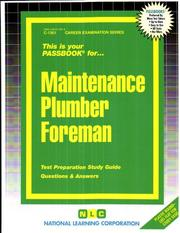 Cover of: Maintenance Plumber Foreman | Jack Rudman