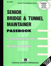 Cover of: Senior Bridge and Tunnel Maintainer | National Learning Corporation