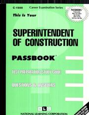 Cover of: Superintendent of Construction |