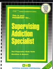 Cover of: Supervising Addiction Specialist | Jack Rudman