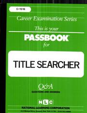 Cover of: Title Searcher |