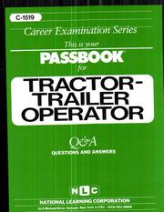 Cover of: Tractor - Trailer Operator | Jack Rudman