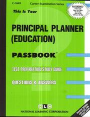 Cover of: Principal Planner (Education) | National Learning Corporation