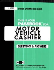 Cover of: Motor Vehicle Cashier (Career Examination Passbooks) |