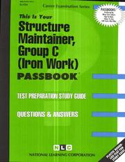Cover of: Structure Maintainer-Group C | Jack Rudman