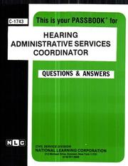 Cover of: Hearing Administrative Services Coordinator | National Learning Corporation