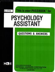 Cover of: Psychology Assistant | Jack Rudman
