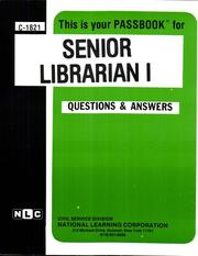 Cover of: Senior Librarian I | Jack Rudman