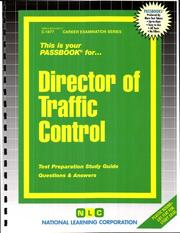 Cover of: Director of Traffic Control (C-1877) | Jack Rudman