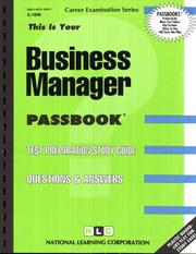 Cover of: Business Manager |