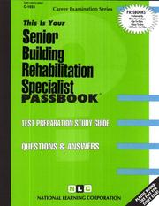 Cover of: Senior Building Rehabilitation Specialist | National Learning Corporation