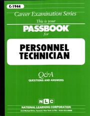 Cover of: Personnel Technician (Career Examination, C-1944) | Jack Rudman