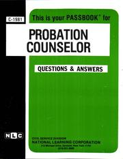 Cover of: Probation Counselor | Jack Rudman