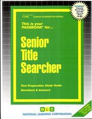 Cover of: Senior Title Searcher | Jack Rudman