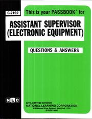 Cover of: Assistant Supervisor (Electronic Equipment) | National Learning Corporation