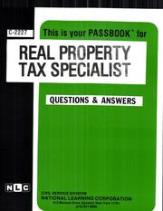 Cover of: Real Property Tax Specialist | Jack Rudman