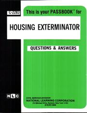 Cover of: Housing Exterminator | National Learning Corporation