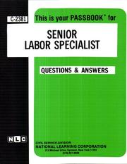 Cover of: Senior Labor Specialist | National Learning Corporation