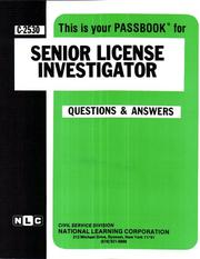 Cover of: Senior License Investigator | National Learning Corporation