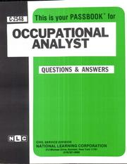 Cover of: Occupational Analyst | National Learning Corporation